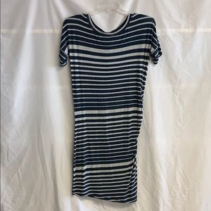 CAbi Ruched T Shirt Dress Small
